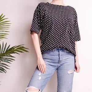 Vintage 80s polka dot oversize crewneck T-shirt
